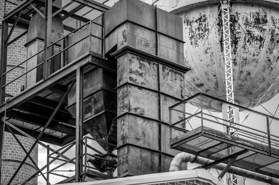Abandoned Furniture Plant Abstract Monochrome