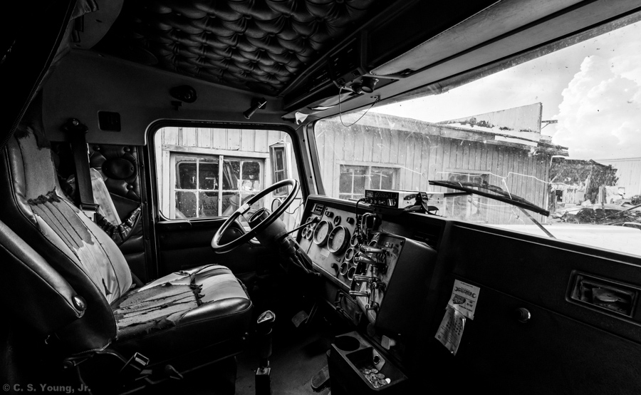 Abandoned Chair Factory -Truck Interior