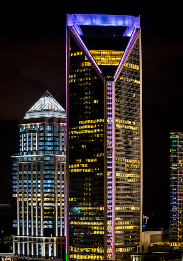Duke Energy Building Night Composition