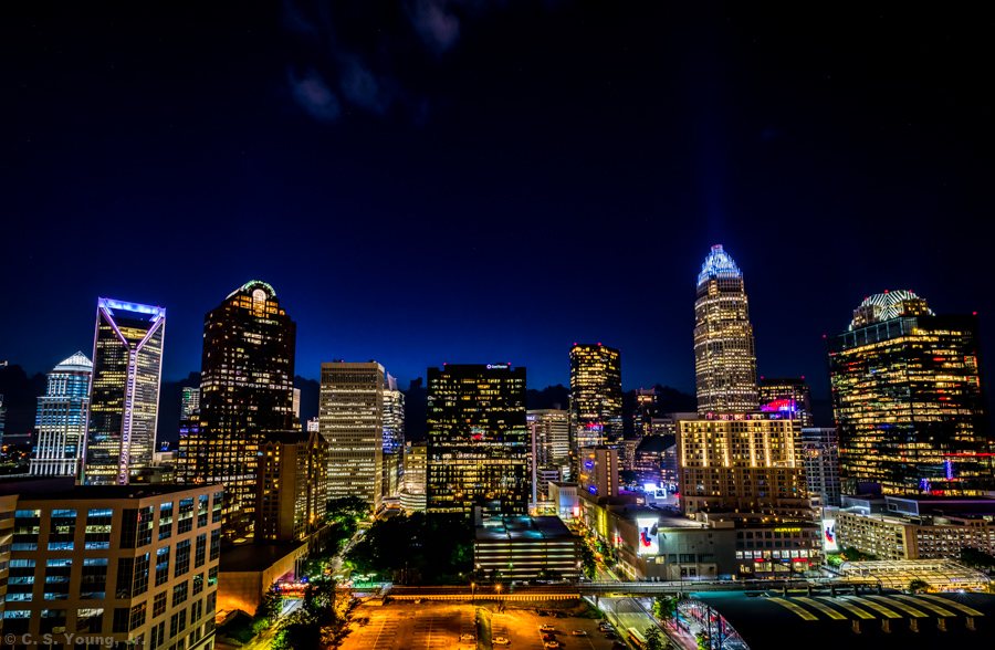 Uptown Charlotte Night Skyline 1